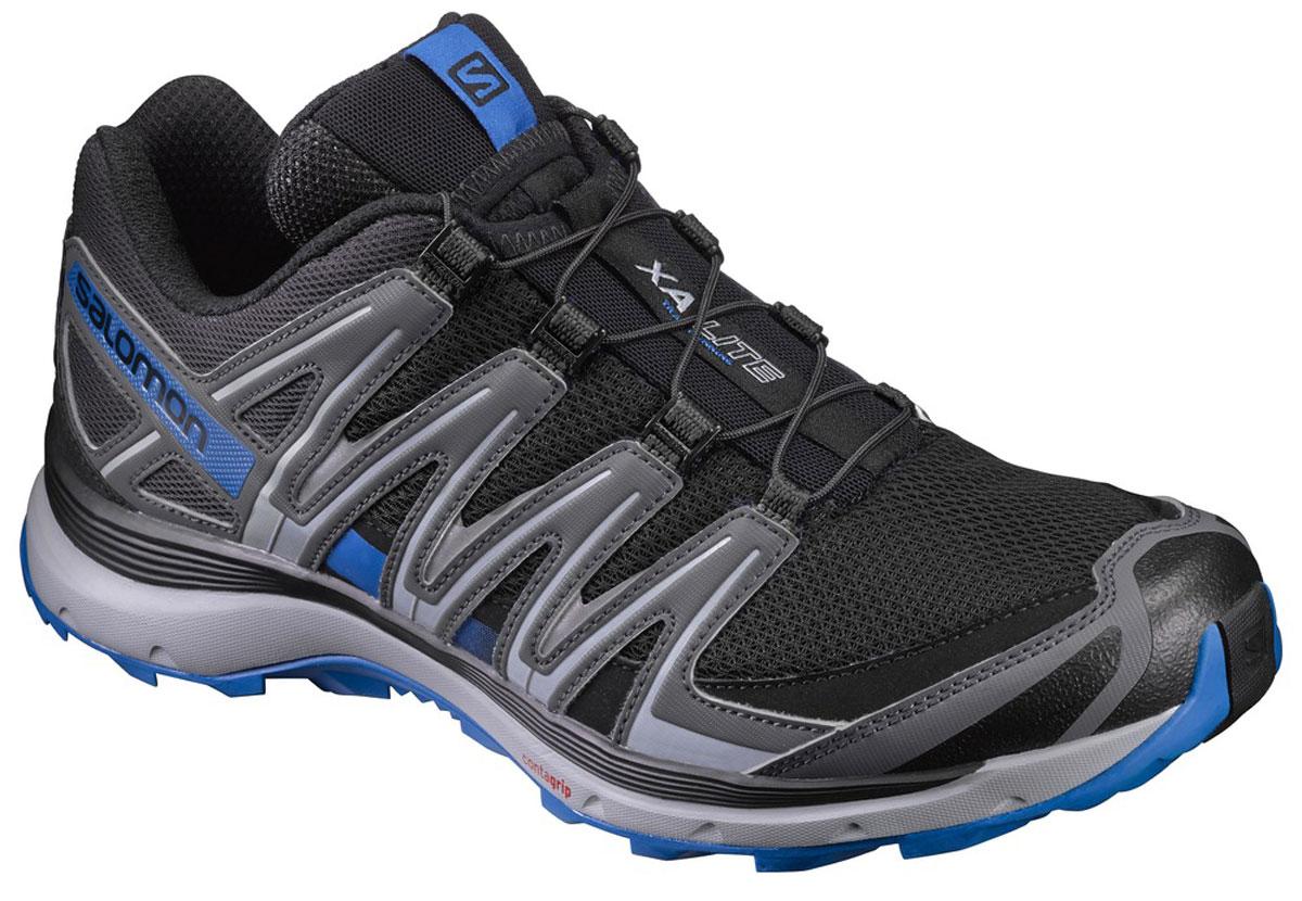 Кроссовки для бега мужские Salomon Xa Lite, цвет: черный, серый. L39330700. Размер 11,5 (45)L39330700Кроссовки Salomon Xa Lite выполнены из искусственной кожи и текстиля. У модели крепкая шнуровка для затягивания в одно движение. Конструкция Sensifit обрамляет стопу, обеспечивая точный обхват ноги. У изделия промежуточная подошва из EVA, формованная стелька.
