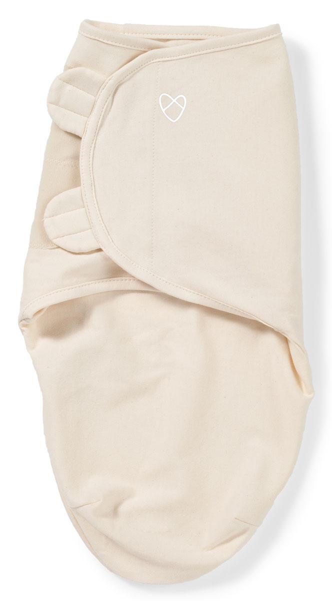 Конверт для новорожденного Summer Infant SwaddleMe Organic на липучке, цвет: бежевый. 54080. Размер S/M, длина 55 см54080Мягко облегая, конверт не ограничивает движение ребенка, и в тоже время помогает снизить рефлекс внезапного вздрагивания, благодаря этому сон малыша и родителей будет более крепким. Регулируемые крылья для закрытия конверта сделаны таким образом, что даже самый активный ребенок не сможет распеленаться во время сна. Конверт можно открыть в области ног малыша для легкой смены подгузников - нет необходимости разворачивать детские ручки.