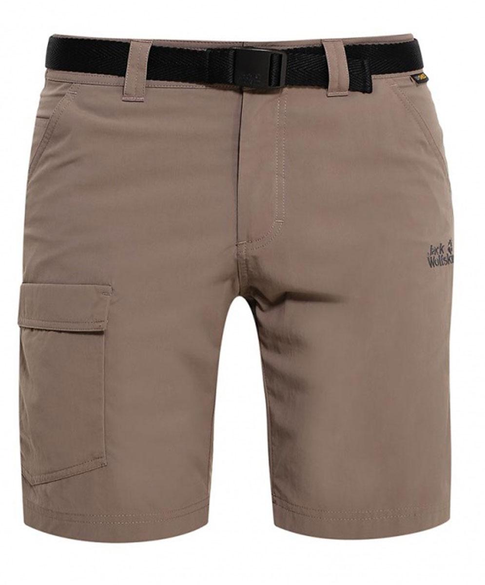 Шорты мужские Jack Wolfskin Hoggar Shorts, цвет: коричневый. 1503781-5116. Размер 46 (46)1503781-5116Очень прочные треккинговые шорты Hoggar Shorts готовы к любым испытаниям. Они изготовлены из легкой дышащей ткани, которая не только позволяет коже дышать, но и защищает от УФ-излучения. Таким образом, вы будете чувствовать себя комфортно на протяжении всего дня. Модель застегивается на ширинку с молнией и пуговицу в поясе. Модель дополнена текстильным ремнем. На поясе предусмотрены шлевки. Шорты имеют два втачных кармана спереди, два накладных кармана сзади и один накладной карман сбоку. Такая модель идеально подходит для туризма и путешествий.