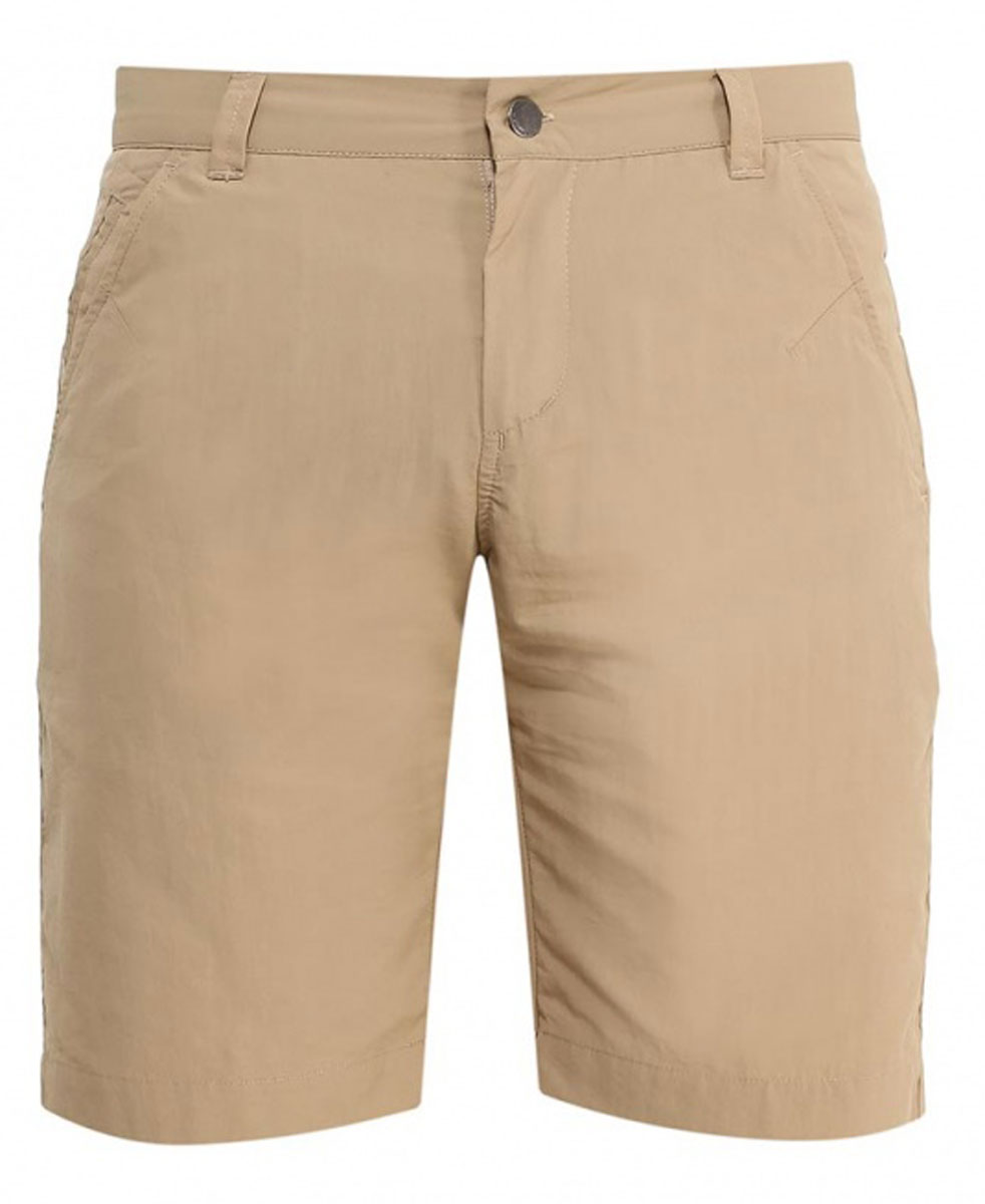Шорты мужские Jack Wolfskin Kalahari Shorts, цвет: бежевый. 1503271-5605. Размер 46 (46)1503271-5605Шорты мужские Kalahari Shorts— это дорожные шорты из нейлона SUPPLEX (СУПЛЕКС), который просто создан для путешествий. Шорты имеют множество преимуществ, особенно практичных в путешествии: они легкие, защищают от ультрафиолетового излучения и упаковываются очень компактно. К тому же материал очень быстро сохнет. Модель застегивается на ширинку с молнией и пуговицу в поясе. Пояс дополнен шлевками для ремня. Спереди расположены два втачных кармана, сзади также имеется два втачных кармана. Kalahari Shorts — сочетание нужных качеств для путешествий, летних походов и будней.