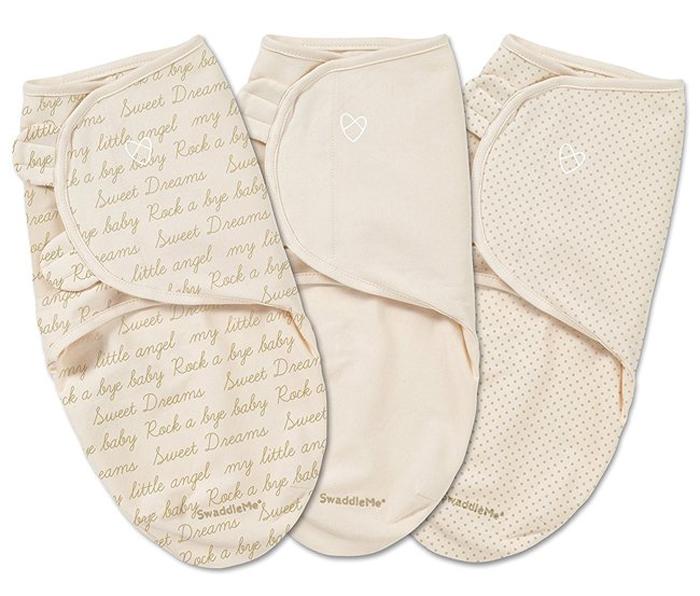 Конверт для новорожденного Summer Infant SwaddleMe на липучке, цвет: бежевый, 3 шт. 87490. Размер S/M, длина 55 см87490Мягко облегая, конверт не ограничивает движение ребенка, и в тоже время помогает снизить рефлекс внезапного вздрагивания, благодаря этому сон малыша и родителей будет более крепким. Регулируемые крылья для закрытия конверта выполнены таким образом, что даже самый активный ребенок не сможет распеленаться во время сна. Конверт можно открыть в области ног малыша для легкой смены подгузников - нет необходимости разворачивать детские ручки.