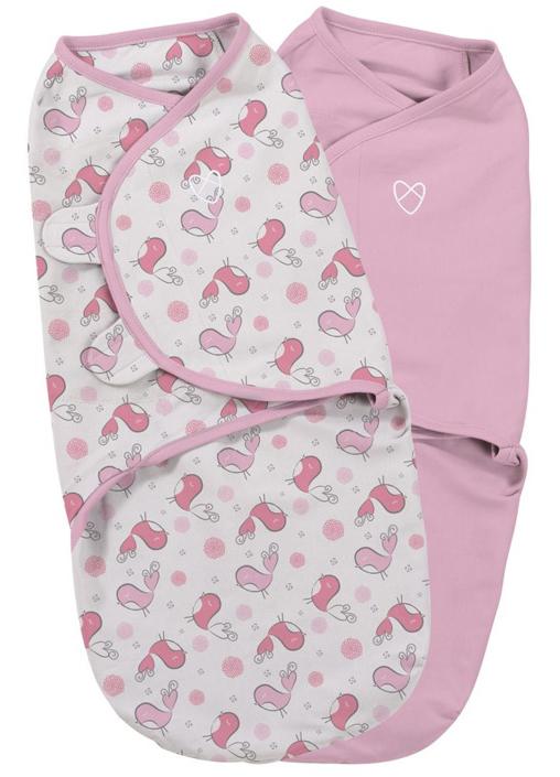 Конверт для новорожденного Summer Infant SwaddleMe на липучке, цвет: розовый, белый, 2 шт. 55926. Размер S/M, длина 50 см55926Конверт для новорожденного Summer Infant SwaddleMe выполнен из натурального хлопка и оформлен оригинальным принтом. Модель застегивается с помощью липучек на крыльях, регулирующих объем и застежки-молнии. Мягко облегая, конверт не ограничивает движение ребенка.