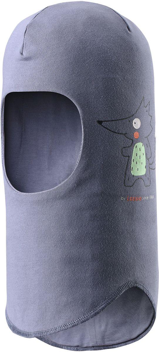 Балаклава детская Lassie, цвет: серый. 7187129630. Размер 46/487187129630Балаклава для малышей и детей постарше - эластичная и удобная. Полная подкладка из дышащего, мягкого на ощупь трикотажного материала. Эта шапка-шлем с ветронепроницаемыми вставками для ушей хорошо защищает лоб, уши и шею от холодного ветра. Имеется светоотражающая эмблема спереди.