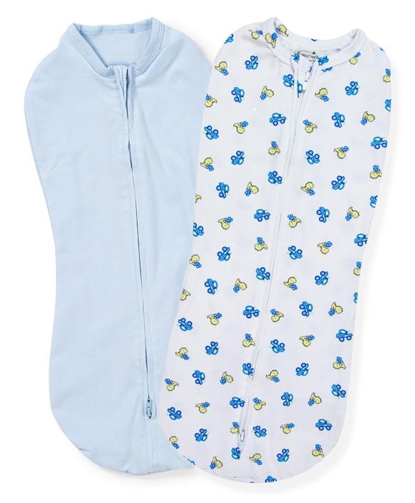 Конверт для новорожденного Summer Infant SwaddlePod на молнии, цвет: голубой, белый, 2 шт. 54370. Размер S, длина 50 см54370Конверт идеально подходит для очень маленьких и даже для недоношенных детей. Дает малышу чувство уюта, как в утробе мамы. Мягко облегая, конверт не ограничивает движение ребенка, и в тоже время помогает снизить рефлекс внезапного вздрагивания, благодаря этому сон малыша более крепкий. Двойная молния позволяет сменить подгузник без полного развертывания малыша из конверта. Молния вшита по специальной технологии, не вредя ребенку при использовании конверта.