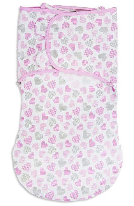 Конверт для новорожденного Summer Infant Wrap Sack на липучке, цвет: розовый. 87410. Размер L, длина 60 см87410Конверт для новорожденного Summer Infant полностью выполнен из натурального хлопка и оформлен оригинальным принтом. Модель застегивается с помощью липучек на крыльях, регулирующих объем и застежки-молнии. Мягко облегая, конверт не ограничивает движение ребенка.