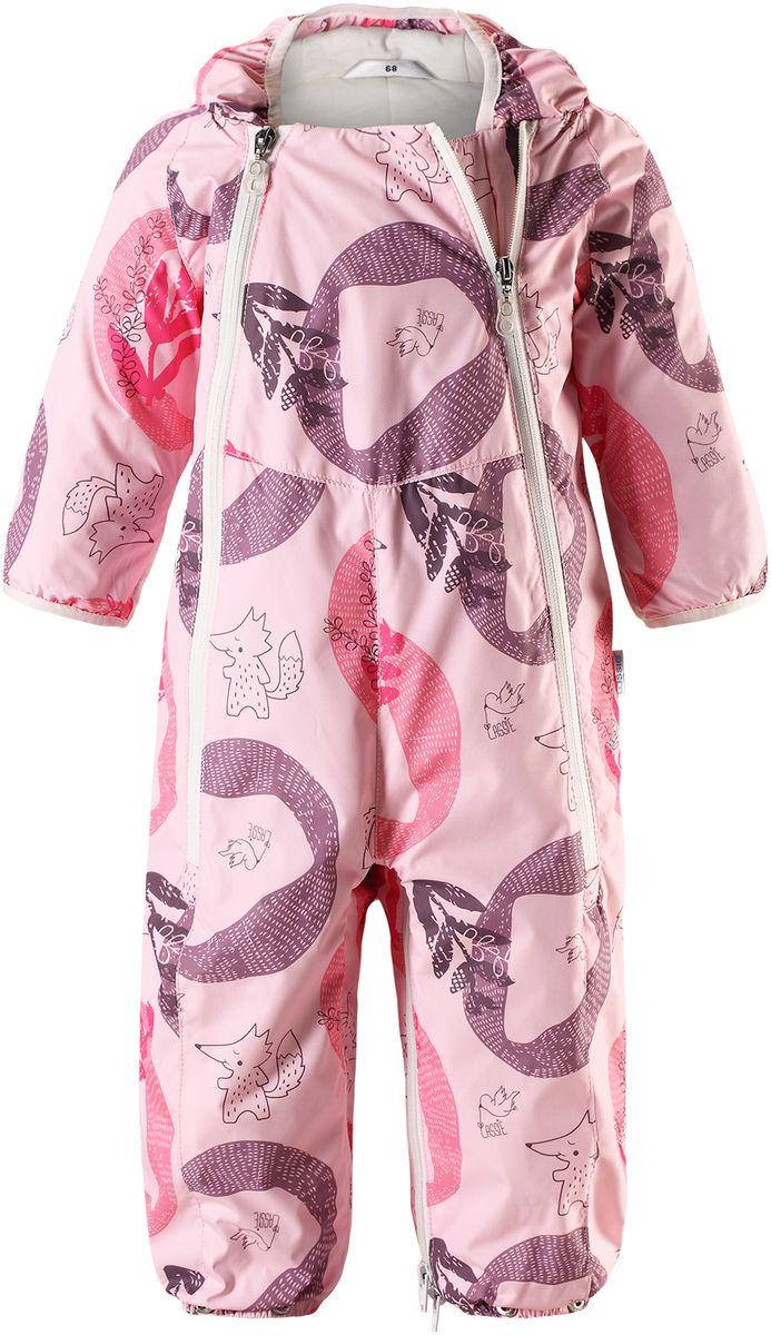 Комбинезон-трансформер для новорожденного Lassie, цвет: розовый. 7107024071. Размер 627107024071Теплый стеганый комбинезон для новорожденных легко превращается в конверт. Благодаря легкому утеплению, комбинезон идеально подходит для ранней весны и поздней осени. Комбинезон изготовлен из водоотталкивающего, ветронепроницаемого и дышащего материала он обеспечит вашей крохе максимальный комфорт. Не снимающийся капюшон и красивая гладкая подкладка из хлопкового джерси на легком утеплителе. Очень практичные подворачивающиеся рукава с эластичными манжетами. Съемные штрипки и эластичные концы брючин надежно защищают ножки! Две длинные молнии спереди комбинезона облегчают надевание.