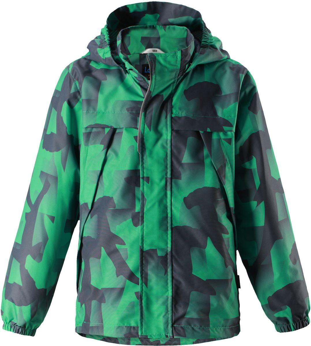 Куртка для мальчика Lassie, цвет: зеленый. 721707R8811. Размер 122721707R8811Легкая и удобная куртка для мальчиков на весенне-осенний период. Она изготовлена из водоотталкивающего и ветронепроницаемого, но при этом дышащего материала. Куртка снабжена дышащей и приятной на ощупь подкладкой на легком утеплителе, которая облегчает одевание. Съемный капюшон обеспечивает защиту от холодного ветра, а также безопасен во время игр на свежем воздухе! Благодаря регулируемому подолу эта модель свободного покроя отлично сидит по фигуре. Снабжена множеством продуманных элементов, например, передними карманами и эластичными манжетами.