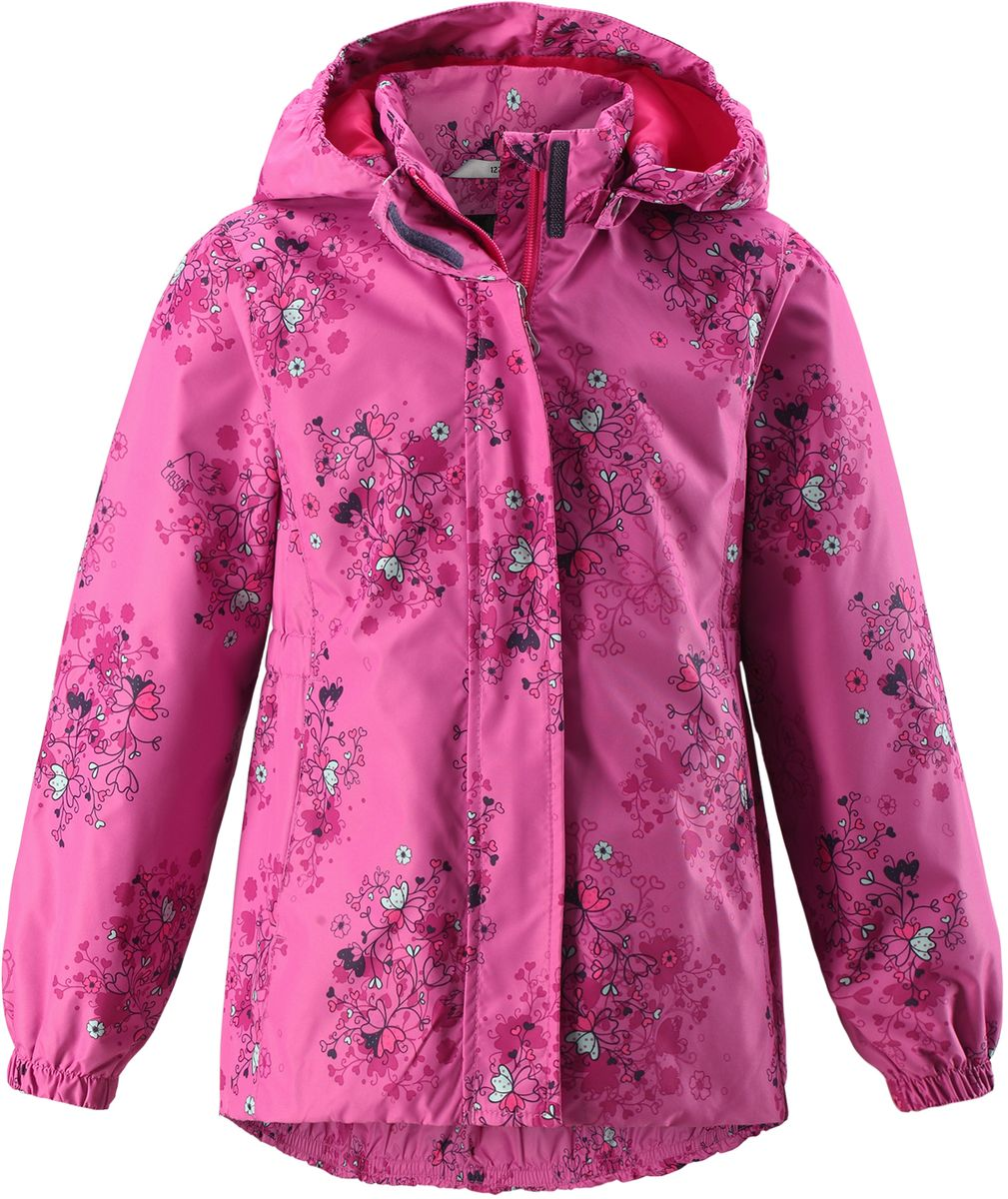 Куртка для девочки Lassie, цвет: фуксия. 721704R4861. Размер 104721704R4861Стильная демисезонная куртка для девочек изготовлена из водоотталкивающего, ветронепроницаемого и дышащего материала. Гладкая и приятная на ощупь подкладка из полиэстера на легком утеплителе согревает и облегчает процесс одевания. Удлиненная модель для девочек с эластичной талией, подолом и манжетами. Практичные детали просто незаменимы: безопасный съемный капюшон, карманы, вшитые в боковые швы, и светоотражающая эмблема сзади.
