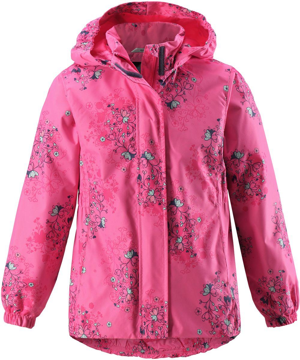 Куртка для девочки Lassie, цвет: розовый. 721704R3401. Размер 104721704R3401Стильная демисезонная куртка для девочек изготовлена из водоотталкивающего, ветронепроницаемого и дышащего материала. Гладкая и приятная на ощупь подкладка из полиэстера на легком утеплителе согревает и облегчает процесс одевания. Удлиненная модель для девочек с эластичной талией, подолом и манжетами. Практичные детали просто незаменимы: безопасный съемный капюшон, карманы, вшитые в боковые швы, и светоотражающая эмблема сзади.