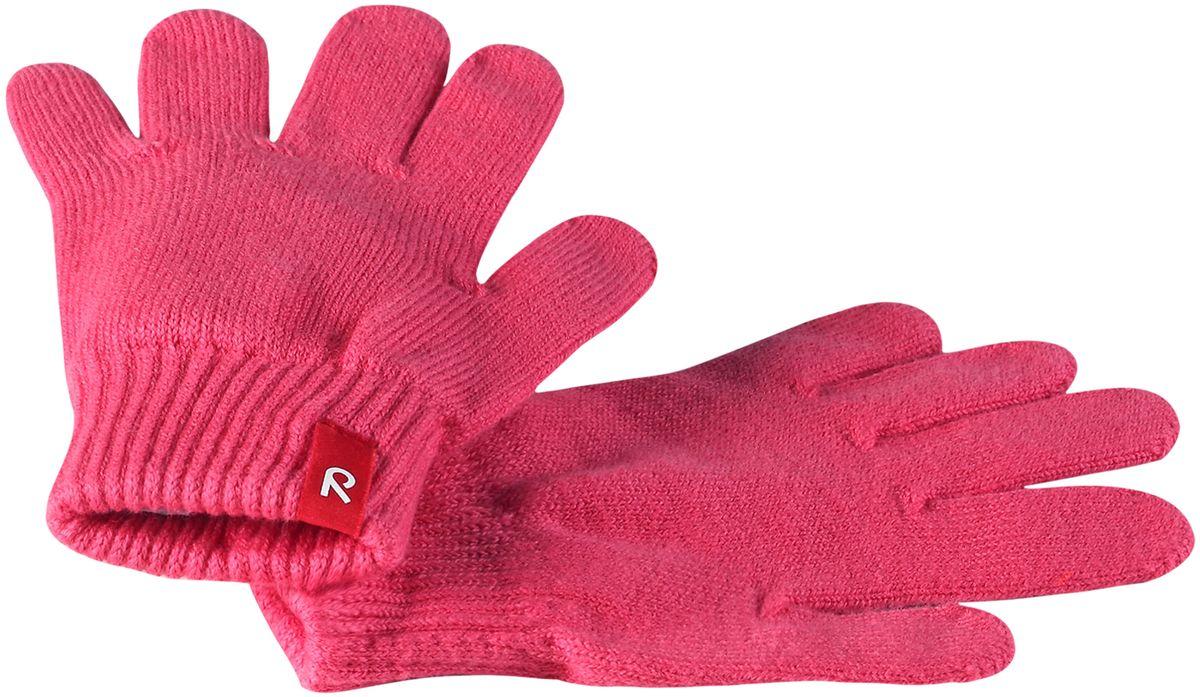 Перчатки детские Reima Klippa, цвет: розовый. 527260-3360. Размер 7/8527260-3360Перчатки для малышей и детей постарше выполнены из эластичного хлопчатобумажного трикотажа, дающего ощущение легкости и комфорта поздней весной и ранней осенью. Они идеально подойдут для поддевания под водонепроницаемые варежки и перчатки. Изготовлены из хлопчатобумажного трикотажа высокого качества и легко стираются в стиральной машине.