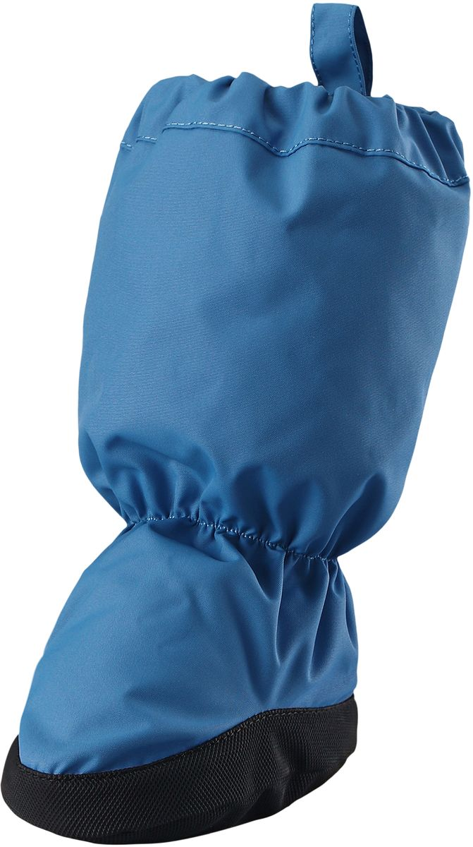Пинетки Reima Hiipii, цвет: синий. 5171566550. Размер 05171566550Эластичные, теплые и удобные пинетки для малышей просто идеальны для прогулок в коляске. Пинетки изготовлены из ветро- и водонепроницаемого, грязеотталкивающего материала, которому не страшны брызги и небольшой дождик. Их очень легко надевать благодаря эластичным резинкам на голени и щиколотке. Нескользящая подошва не даст малышу упасть на скользкой поверхности. Обратите внимание: пинетки могут промокать, так как они выполнены из водонепроницаемого материала не полностью.