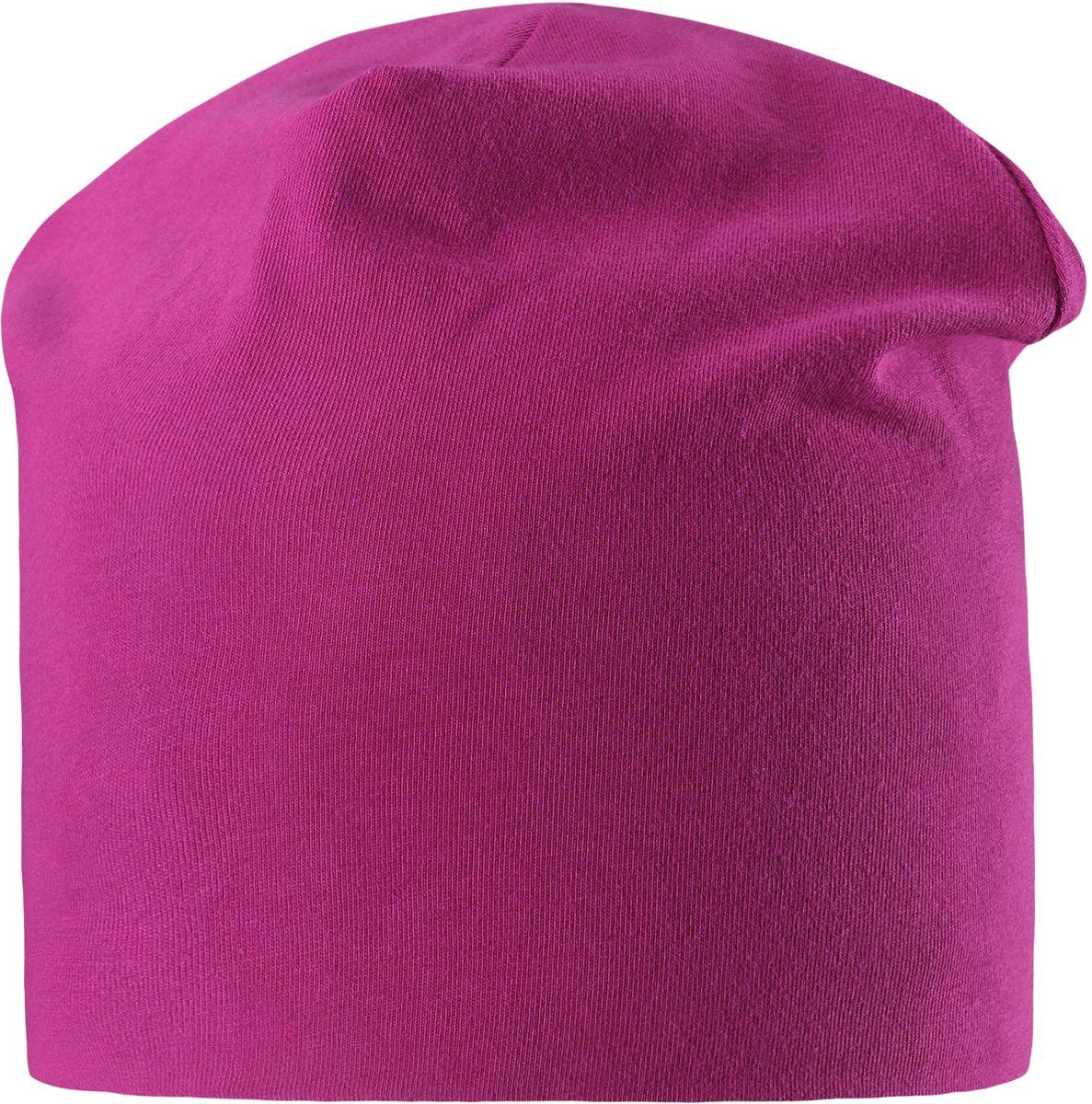 Шапка для девочки Lassie, цвет: фуксия. 7287044861. Размер 48/507287044861Легкая и удобная детская шапка в нескольких вариантах разных однотонных расцветок и ярких принтов. Шапка сделана из легкого и дышащего джерси на полной трикотажной подкладке из смеси хлопка и джерси. Ветронепроницаемые вставки в области ушей обеспечивают дополнительное утепление.