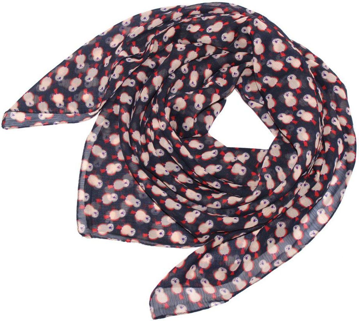 Платок женский Ethnica, цвет: темно-синий, бежевый, красный. 524040н. Размер 90 см х 90 см524040нПлаток Ethnica, выполненный из вискозы, гармонично дополнит образ современной женщины. Благодаря своему составу, он легкий, мягкий и приятный на ощупь. Модель оформлена оригинальным принтом. Классическая квадратная форма позволяет носить платок на шее, украшать им прическу или декорировать сумочку. С таким платком вы всегда будете выглядеть женственно и привлекательно.