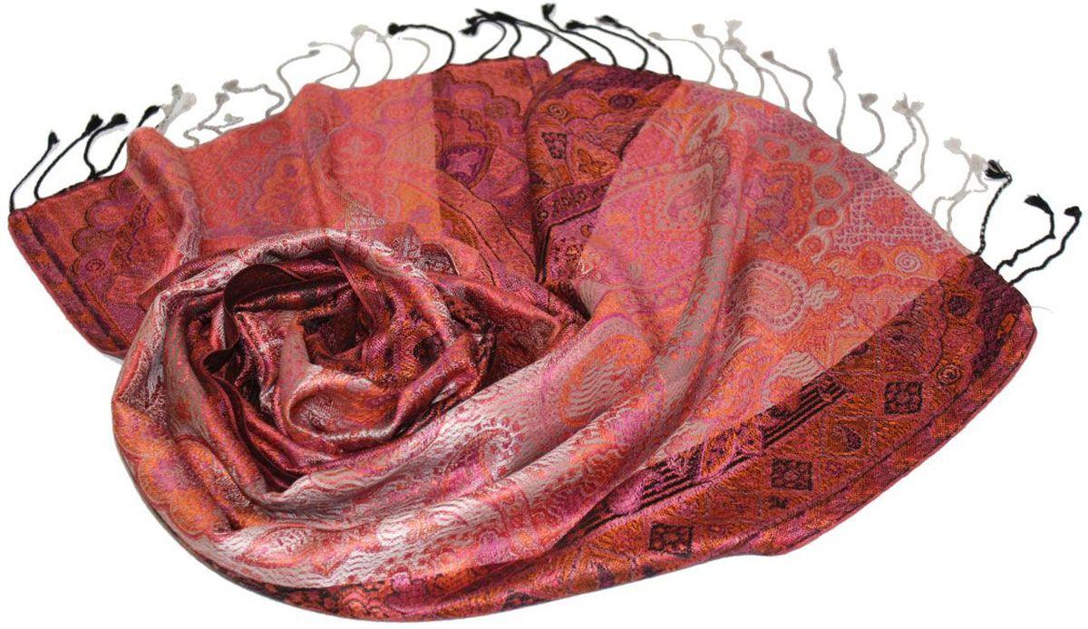 Шарф женский Ethnica, цвет: серый, терракотовый. 081370а. Размер 36 см х 165 см081370аЖенский шарф Ethnica, изготовленный из 100% шелка, подчеркнет вашу индивидуальность. Благодаря своему составу, он легкий, мягкий и приятный на ощупь. Изделие декорировано оригинальным этническим узором и дополнено кисточками.Такой аксессуар станет стильным дополнением к гардеробу современной женщины.