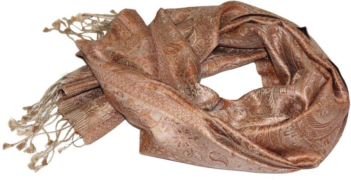 Шарф женский Ethnica, цвет: терракотовый, бежевый. 081370а. Размер 36 см х 165 см081370аЖенский шарф Ethnica, изготовленный из 100% шелка, подчеркнет вашу индивидуальность. Благодаря своему составу, он легкий, мягкий и приятный на ощупь. Изделие декорировано оригинальным этническим узором и дополнено кисточками.Такой аксессуар станет стильным дополнением к гардеробу современной женщины.
