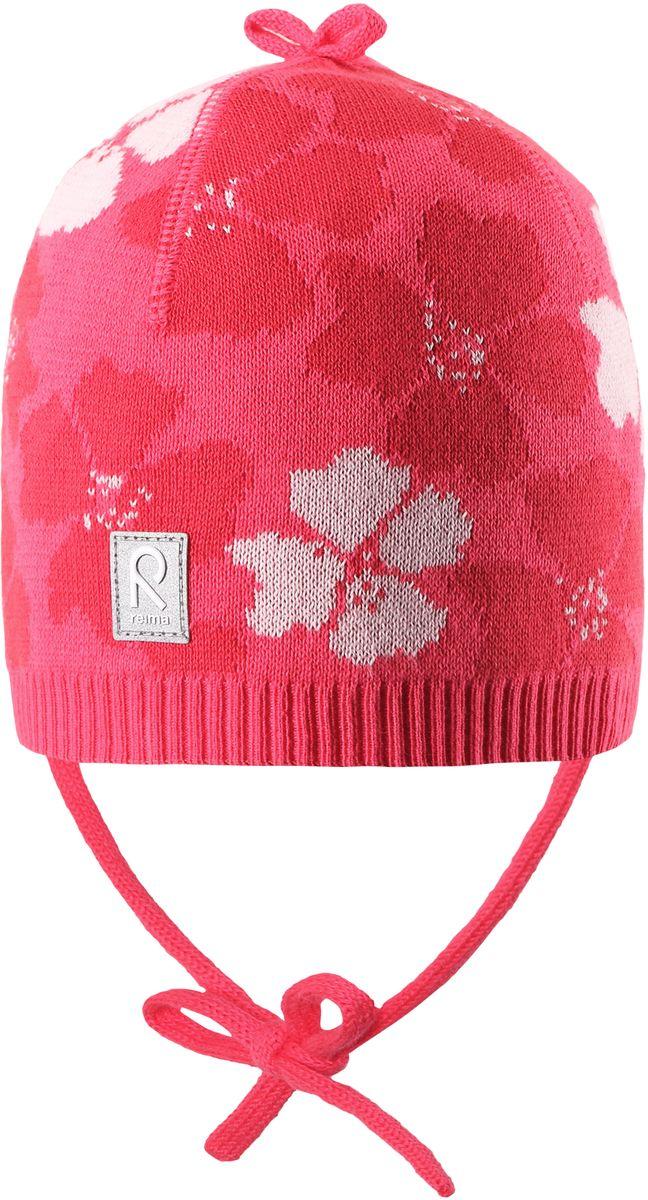 Шапка для девочки Reima Brisky, цвет: розовый. 5184043360. Размер 485184043360Детская шапка яркой расцветки рассчитана на межсезонье, в ней можно и поиграть во дворе, и прогуляться по городу. Она изготовлена из мягкого и комфортного вязаного хлопка. Эта облегченная модель без подкладки, идеально подходит для солнечной погоды.