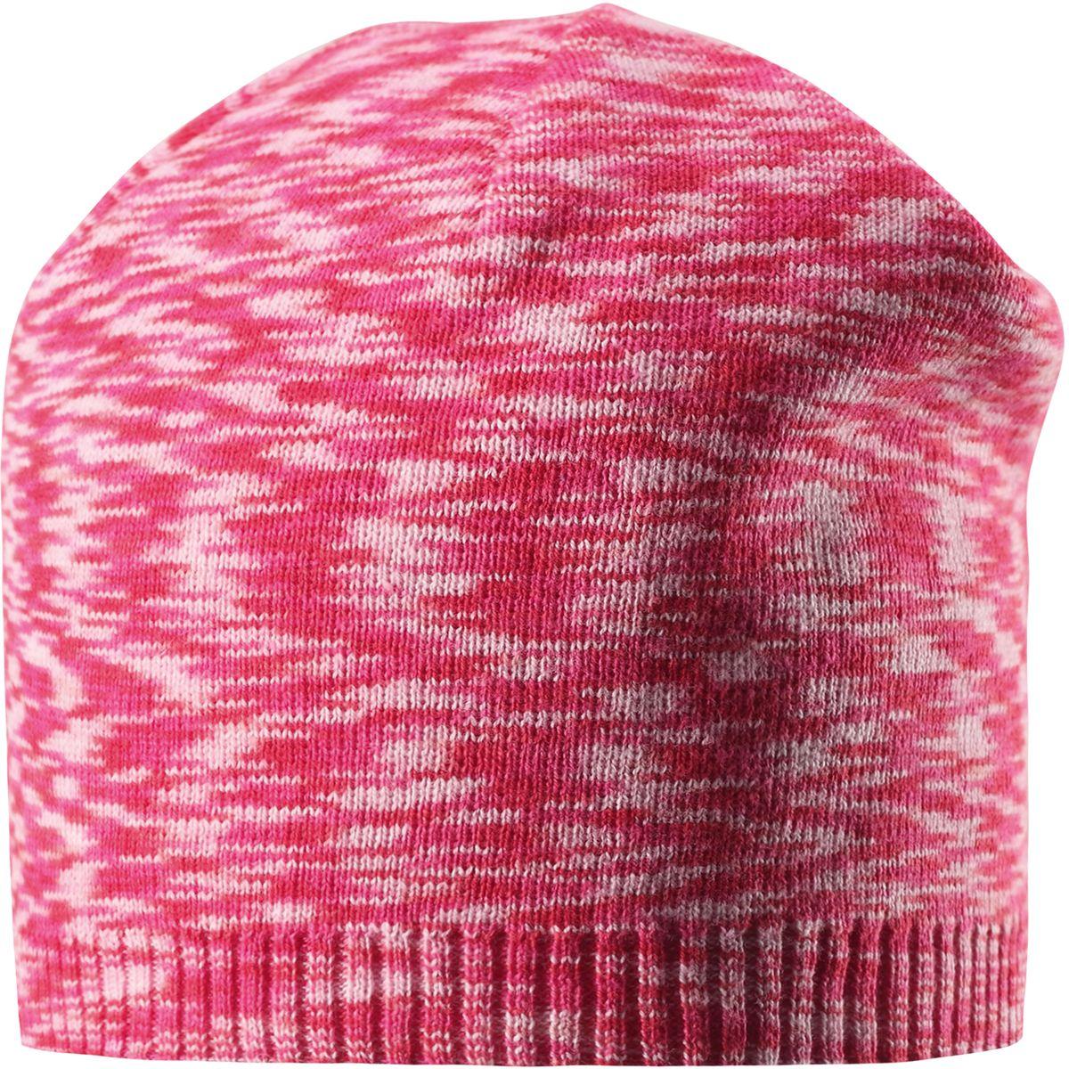 Шапка детская Reima Liplatus, цвет: розовый. 5285273360. Размер 565285273360Стильная детская шапка прекрасно подойдет для весенней поры. Она изготовлена из эластичного и легкого вязаного хлопка, мягкого и приятного на ощупь. Материал сертифицирован по стандарту Oeko-Tex. Удлиненная, облегченная модель без подкладки.