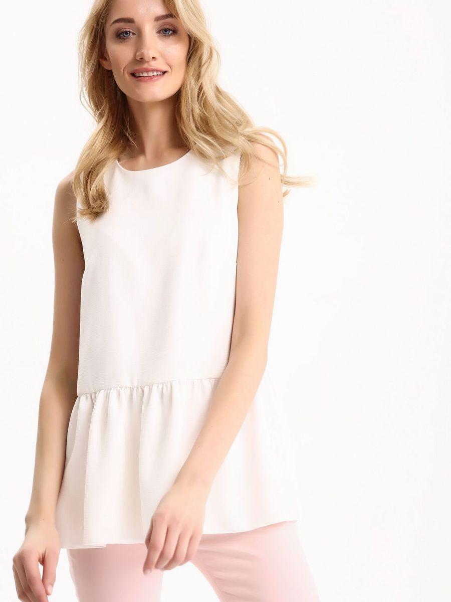 Блузка женская Top Secret, цвет: белый. SBW0333BI. Размер 36 (44)SBW0333BIБлузка женская Top Secret выполнена из хлопка и эластана. Модель с круглым вырезом горловины сзади завязывается на завязки.
