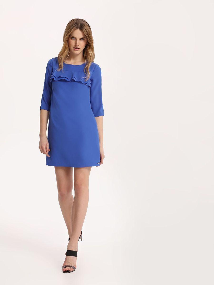 Платье Top Secret, цвет: синий. SSU1842NI. Размер 36 (44)SSU1842NIПлатье Top Secret выполнено из полиэстера. Модель с круглым вырезом горловины и рукавами 3/4.