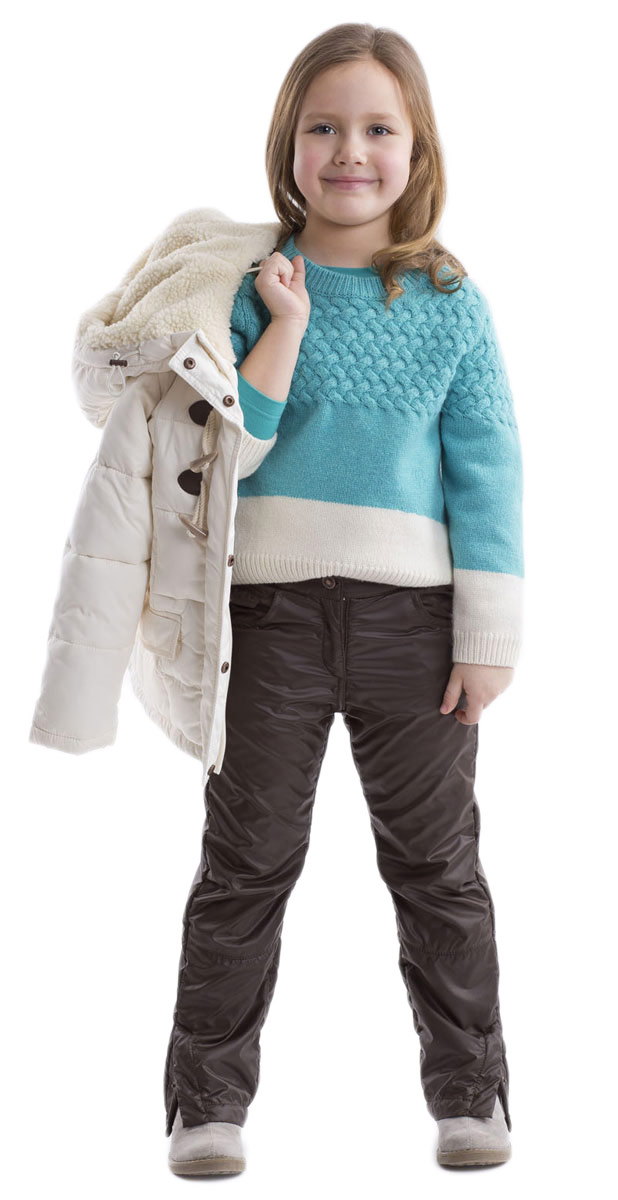 Джемпер для девочки Gulliver, цвет: бирюзовый, молочный. 21602GMC3101. Размер 11021602GMC3101Стильный джемпер Gulliver для девочки изготовлен из теплой шерсти ягненка и нейлона.Джемпер свободной формы с круглым вырезом горловины и длинными рукавами удлинен по линии спинки. Воротник, манжеты и низ изделия связаны резинкой. Оформлена модель оригинальной цветовой комбинацией и вязанным горизонтальным узором.