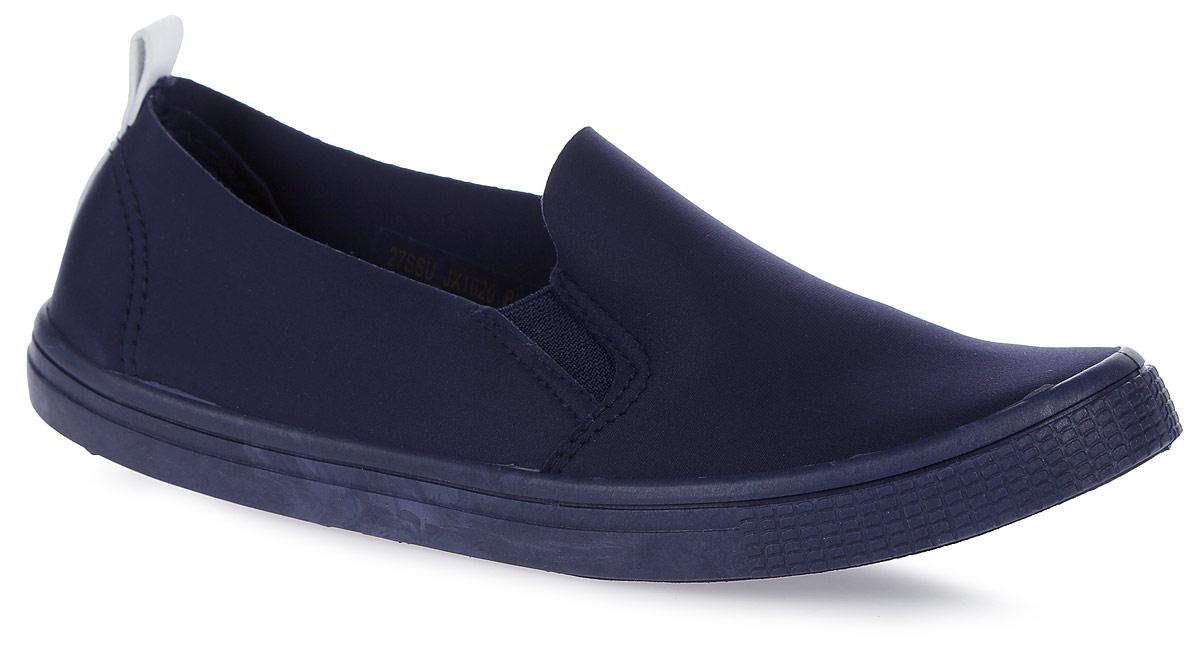 Слипоны женские Spur, цвет: темно-синий. 27SSU_JX1620. Размер 3827SSU_JX1620_BLUEСтильные женские слипоны от Spur покорят вас своим дизайном и удобством! Модель выполнена из текстиля. Эластичные вставки на подъеме надежно зафиксируют модель на ноге.Резиновая подошва с рельефной поверхностью обеспечивает отличное сцепление с любыми поверхностями.