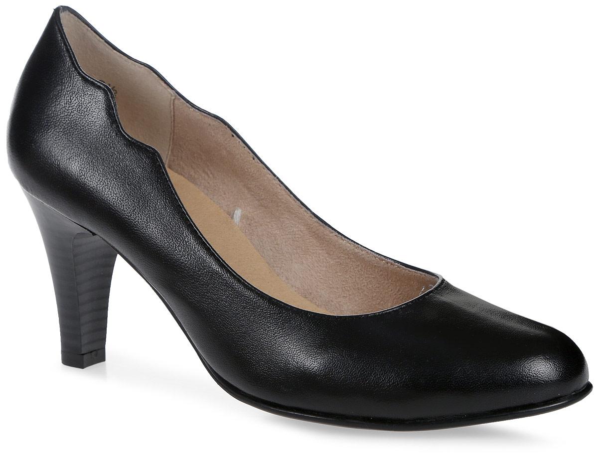 Туфли женские Caprice, цвет: черный. 9-9-22406-28-022/208. Размер 37,59-9-22406-28-022/208Стильные женские туфли, выполненные из натуральной кожи, отлично дополнят ваш образ. Внутренняя поверхность и стелька из текстиля и натуральной кожи обеспечат комфорт ногам. Модель на устойчивом каблуке. Подошва оснащена рифлением.