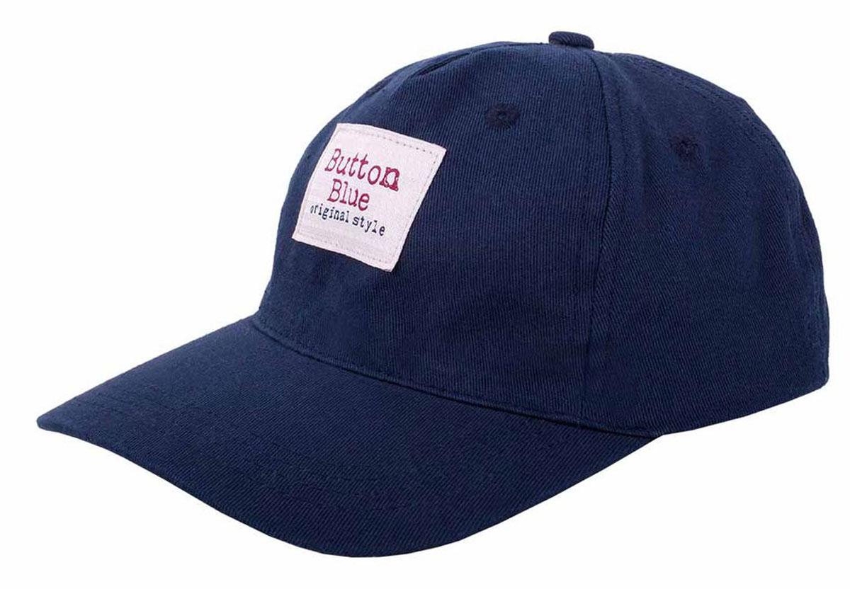 Бейсболка для мальчика Button Blue Main, цвет: синий. 117BBBX71021000. Размер 50, 3-5 лет117BBBX71021000Бейсболка отлично защищает от солнца, а также украшает и завершает летний комплект. Купить недорого бейсболку от Button Blue, значит, позаботиться о здоровье, внешнем виде и комфорте ребенка.