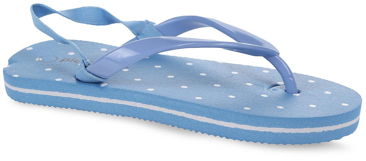 Шлепанцы для девочки PlayToday, цвет: голубой, белый. 172244. Размер 28172244Яркие шлепанцы от PlayToday изготовлены из резины. Ремешки с перемычкой гарантируют надежную фиксацию модели на ноге. Рельефное основание подошвы обеспечивает уверенное сцепление с любой поверхностью. Удобные шлепанцы прекрасно подойдут для похода в бассейн или на пляж.