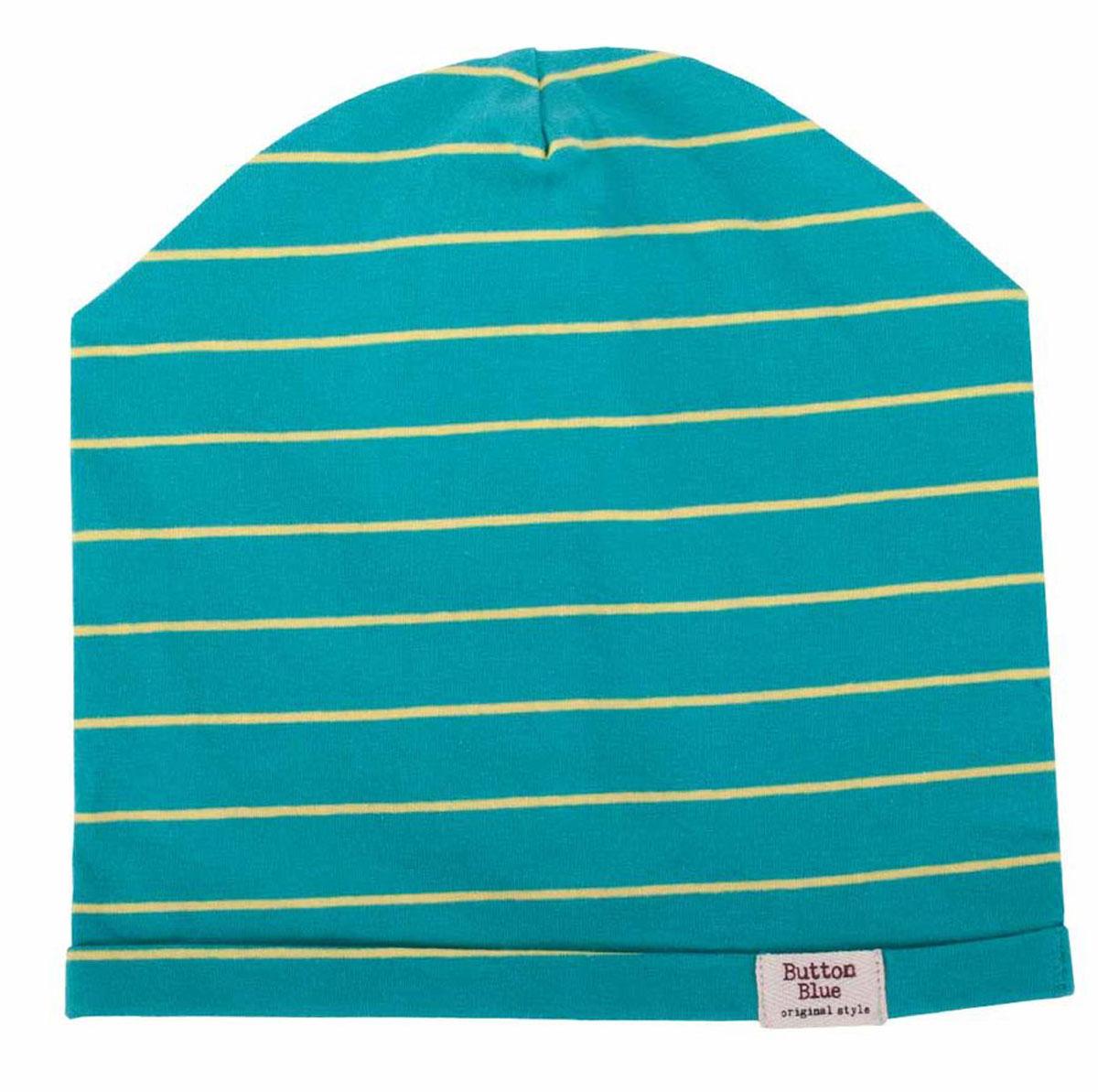 Шапка для мальчика Button Blue Main, цвет: бирюзовый. 117BBBX73012805. Размер 52, 6-8 лет117BBBX73012805Трикотажные шапки - важный атрибут повседневного гардероба! Они отлично согревают, а также украшают и завершают весенний комплект. Купить недорого шапку для мальчика от Button Blue, значит, позаботиться о здоровье, внешнем виде и комфорте ребенка.