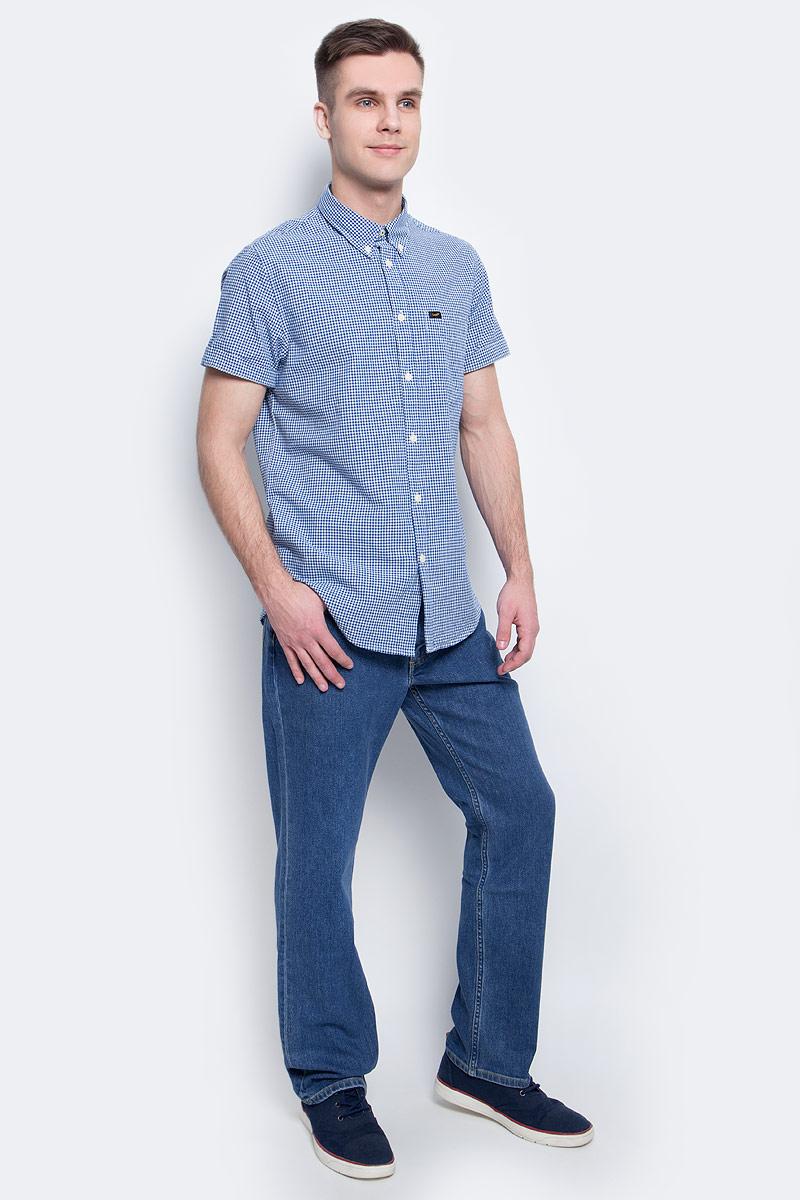 Рубашка мужская Lee, цвет: голубой. L886IIPS. Размер XXL (54)L886IIPS