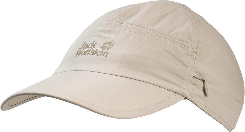 Кепка Jack Wolfskin Supplex Canyon Cap, цвет: молочный. 1905891-5505. Размер L (57/60)1905891-5505Кепка Supplex Canyon Cap идеально подходит для путешествий в жарких странах. Верх изделия выполнен из материала SUPPLEX (100% полиамид). Это легкая, мягкая и быстро сохнущая ткань. Подкладка изготовлена из легкого материала COOLMAX MESH (100% полиэстер), который создает прохладу, выводит влагу наружу и обеспечивает комфорт при носке. Кепка обладает высокой защитой от ультрафиолета (UPF 40+), поэтому она идеально защитит вашу голову и лицо от палящего солнца. Кепка также имеет защиту для шеи, которую при необходимости можно свернуть. Модель выполнена в однотонном дизайне и дополнена логотипом бренда.