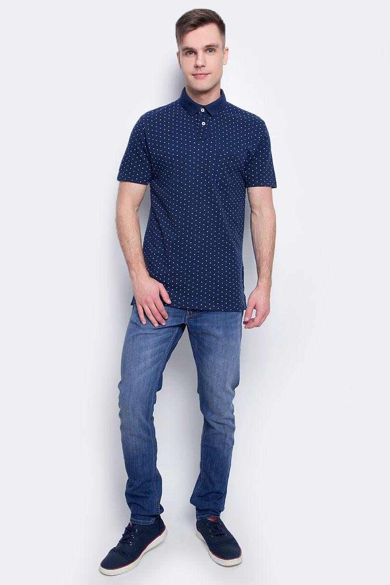 Рубашка-поло мужская Lee, цвет: синий. L60UPZPS. Размер XXL (54)L60UPZPS