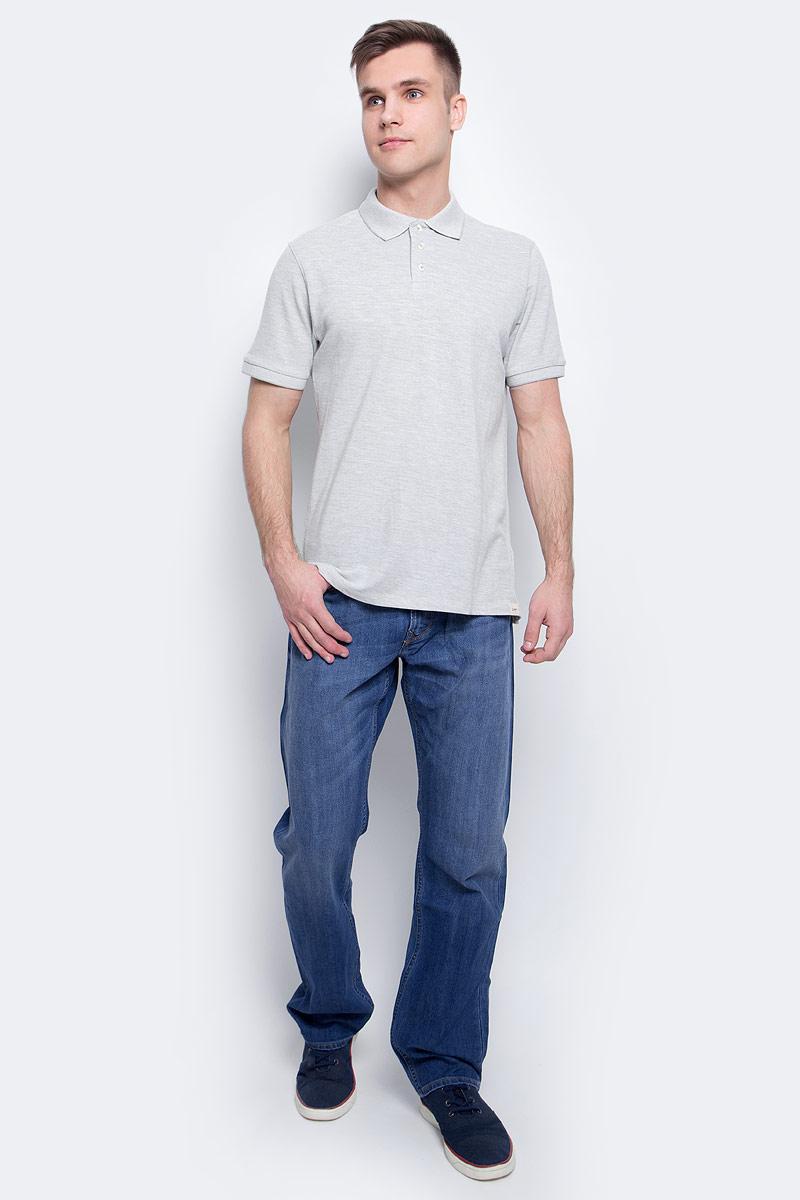 Рубашка-поло мужская Lee, цвет: серый. L60TPY37. Размер XXL (54)L60TPY37