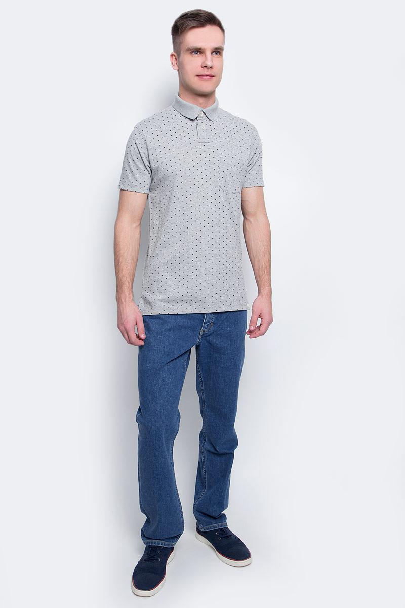 Рубашка-поло мужская Lee, цвет: серый. L60UPZ37. Размер M (48)L60UPZ37