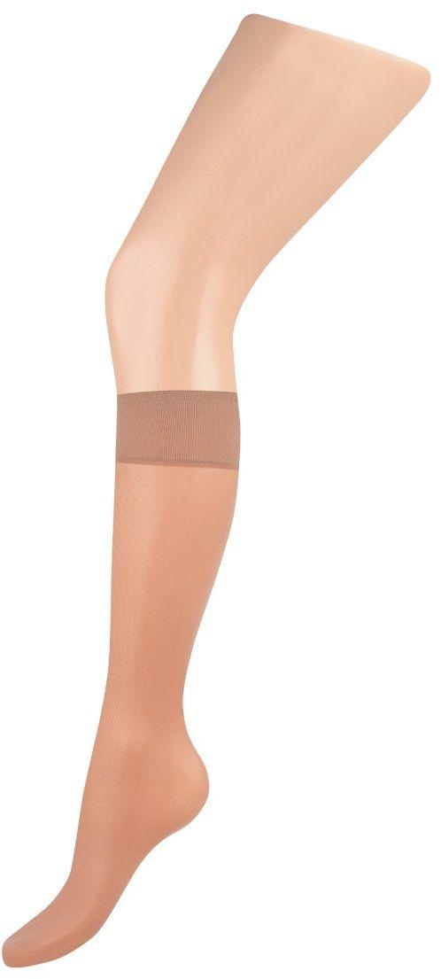 Гольфы женские Charmante, цвет: телесный с дымчатым оттенком. FLAVOR gamb. 40. Размер универсальныйFLAVOR gamb. 40Тонкие шелковистые гольфы с укреплённым носочком и комфортной резинкой. 2 пары в упаковке.