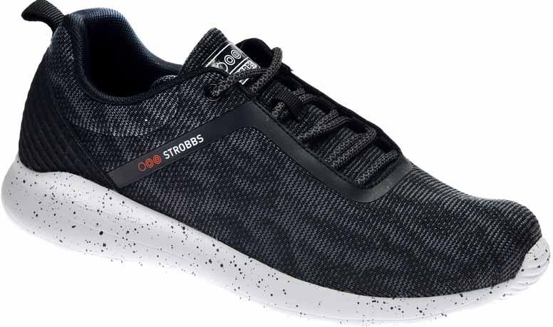 Кроссовки мужские Strobbs, цвет: черный. C2434-3. Размер 44C2434-3Стильные мужские кроссовки Strobbs отлично подойдут для активного отдыха и повседневной носки. Верх модели выполнен из текстиля. Удобная шнуровка надежно фиксирует модель на стопе. Подошва обеспечивает легкость и естественную свободу движений. Мягкие и удобные, кроссовки превосходно подчеркнут ваш спортивный образ и подарят комфорт.