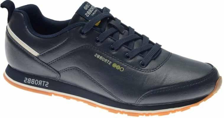 Кроссовки мужские Strobbs, цвет: синий. C2450-2. Размер 43C2450-2Стильные мужские кроссовки Strobbs отлично подойдут для активного отдыха и повседневной носки. Верх модели выполнен из искусственной кожи. Удобная шнуровка надежно фиксирует модель на стопе. Подошва обеспечивает легкость и естественную свободу движений. Мягкие и удобные, кроссовки превосходно подчеркнут ваш спортивный образ и подарят комфорт.