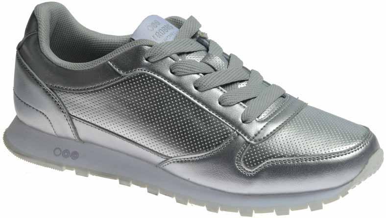 Кроссовки женские Strobbs, цвет: серебряный. F6474-26. Размер 38F6474-26Стильные мужские кроссовки Strobbs отлично подойдут для активного отдыха и повседневной носки. Верх модели выполнен из искусственной кожи. Удобная шнуровка надежно фиксирует модель на стопе. Подошва обеспечивает легкость и естественную свободу движений. Мягкие и удобные, кроссовки превосходно подчеркнут ваш спортивный образ и подарят комфорт.