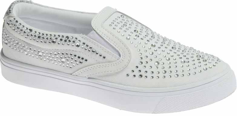 Слипоны женские Strobbs, цвет: белый. F6513-6. Размер 39F6513-6Стильные женские слипоны Strobbs, выполненные из текстиля, отлично подойдут для повседневной носки. Эластичные вставки на подъеме надежно зафиксируют модель на ноге. Внутренняя текстильная поверхность обеспечит комфорт ногам. Удобная износостойкая подошва дополнена рифлением.