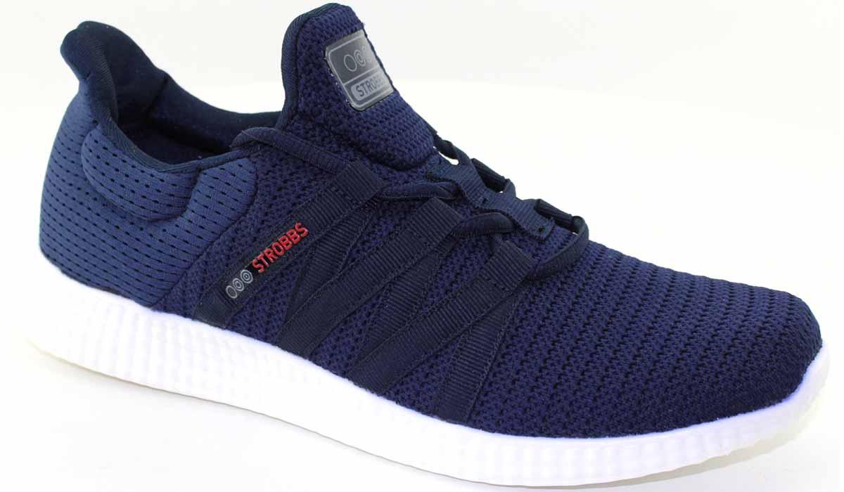 Кроссовки мужские Strobbs, цвет: синий. C2466-2. Размер 42C2466-2Стильные мужские кроссовки Strobbs отлично подойдут для активного отдыха и повседневной носки. Верх модели выполнен из текстиля. Удобная шнуровка надежно фиксирует модель на стопе. Подошва обеспечивает легкость и естественную свободу движений. Мягкие и удобные, кроссовки превосходно подчеркнут ваш спортивный образ и подарят комфорт.
