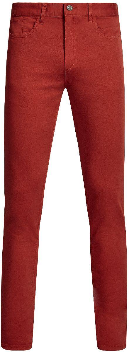 Брюки мужские oodji Basic, цвет: красный. 2B120007M/39622N/4500N. Размер 40-182 (48-182)2B120007M/39622N/4500NСтильные мужские брюки oodji Basic изготовлены из высококачественного материала. Модель на талии застегивается на металлическую пуговицу, а также имеют ширинку на застежке-молнии и шлевки для ремня. Спереди модель дополнена двумя втачными карманами и одним небольшим накладным кармашком, а сзади - двумя большими накладными карманами. Эти модные и в тоже время удобные брюки помогут вам создать оригинальный современный образ.