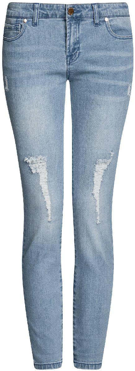 Джинсы женские oodji Ultra, цвет: голубой джинс. 12103155/43322/7000W. Размер 26-30 (42-30)12103155/43322/7000WЖенские укороченные джинсы oodji Ultra выполнены из высококачественного материала. Зауженная модель средней посадки по поясу застегиваются на пуговицу и имеют ширинку на застежке-молнии, а также шлевки для ремня. Джинсы имеют классический пятикарманный крой: спереди - два втачных кармана и один маленький накладной, а сзади - два накладных кармана. Модель оформлена потертостями.