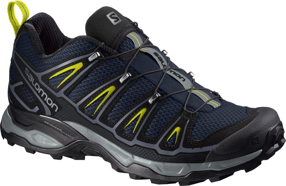 Кроссовки трекинговые мужские Salomon X Ultra 2, цвет: темно-синий. L39473800. Размер 10,5 (44)L39473800Мужские кроссовки от Salomon - прекрасно дополнят ваш спортивный образ. Модель, выполненная из высококачественного материала, дарит комфорт и легкость во время ходьбы или бегаЭластичная шнуровка надежно фиксирует обувь на ноге. На заднике и язычке,кроссовки декорированы логотипом бренда. Рифленая подошва обеспечит прочное сцепление с любой поверхностью. В таких кроссовках вашим ногам будет комфортно и уютно.