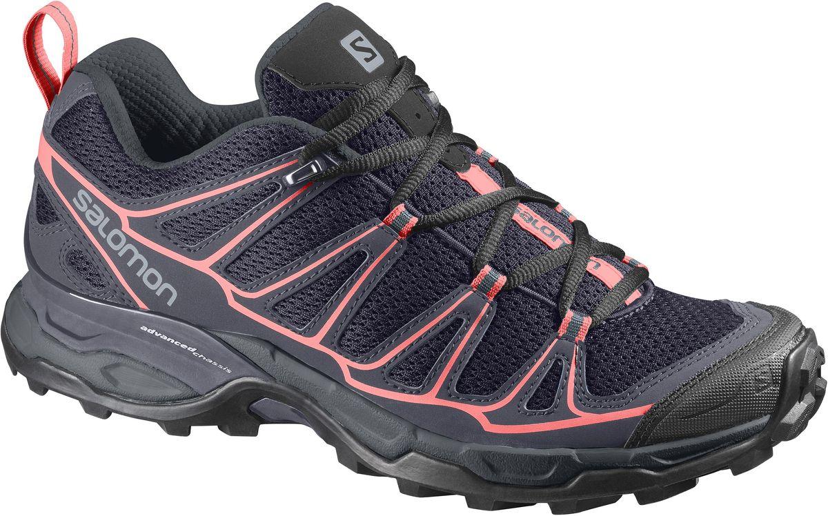 Кроссовки трекинговые женские Salomon X Ultra Prime W, цвет: темно-синий. L39184300. Размер 4,5 (36)L39184300Женские кроссовки от Salomon - прекрасно дополнят ваш спортивный образ. Модель, выполненная из высококачественного материала, дарит комфорт и легкость во время ходьбы или бегаЭластичная шнуровка надежно фиксирует обувь на ноге. На заднике и язычке,кроссовки декорированы логотипом бренда. Рифленая подошва обеспечит прочное сцепление с любой поверхностью. В таких кроссовках вашим ногам будет комфортно и уютно.