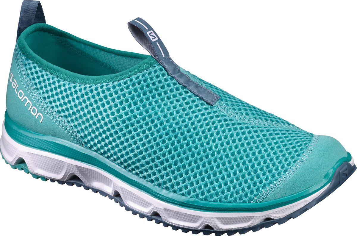 Кроссовки женские Salomon Rx Moc 3.0 W, цвет: бирюзовый. L39244600. Размер 6,5 (38,5)L39244600Женские кроссовки от Salomon - незаменимая обувь в вашем гардеробе. Модель, выполненная из высококачественного материала, дарит комфорт и легкость во время ходьбы или бега. Верх изделия оформлен плетением. На заднике кроссовки декорированы логотипом бренда. Рифленая подошва обеспечит прочное сцепление с любой поверхностью. Такие кроссовки помогут ногам расслабиться после долгих и утомительных тренировок.