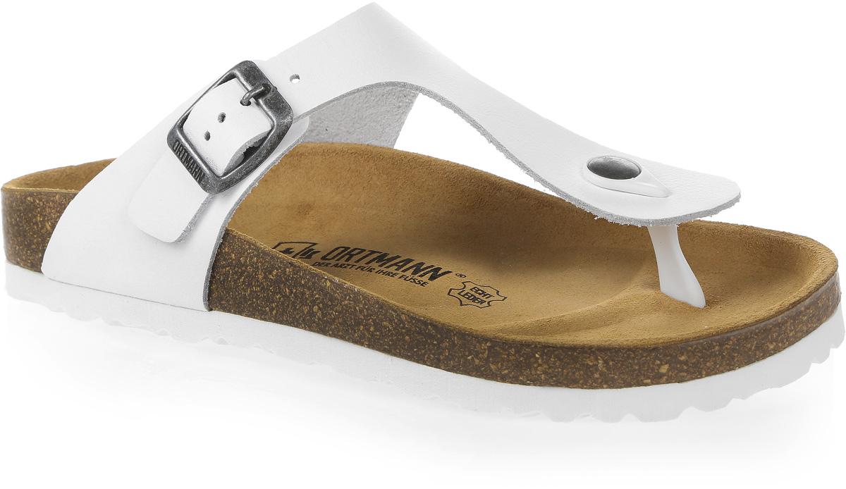 Сандалии женские Ortmann York, цвет: белый. 7.03.2. Размер 377.03.2Стильные сандалии от Ortmann выполнены из натуральной высококачественной кожи. Подъем босоножек оформлен ремешком с перемычкой. Ремешок с застежкой-пряжкой надежно зафиксирует модель на ноге. Длина ремешка регулируется за счет болта.Стелька изготовлена из натуральной замши, гарантирующая комфорт при движении. Подошва дополнена рельефной поверхностью.