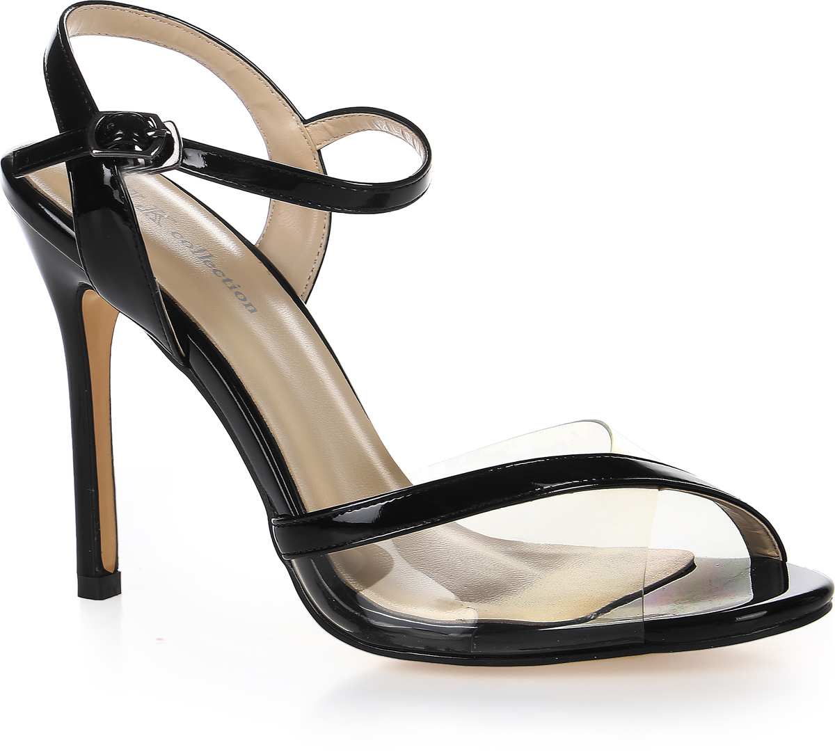 Босоножки женские LK Collection, цвет: черный. W270-793-3 PU. Размер 40W270-793-3 PUСтильные босоножки на высокой шпильке выполнены из искусственной кожи и прозрачного силикона. Стелька выполнена из натуральной кожи. Босоножки фиксируются на ноге при помощи застежки-пряжки.