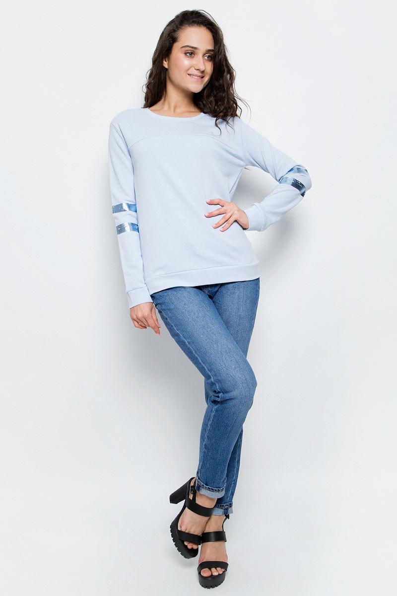 Джемпер женский Lee, цвет: голубой. L52EOTSA. Размер M (44)L52EOTSA