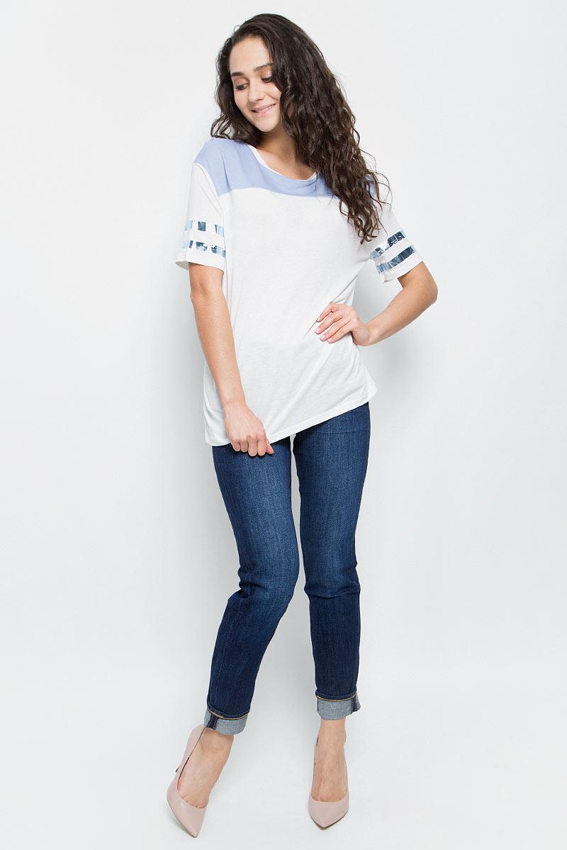 Футболка женская Lee, цвет: белый. L40JRBSQ. Размер S (42)L40JRBSQ