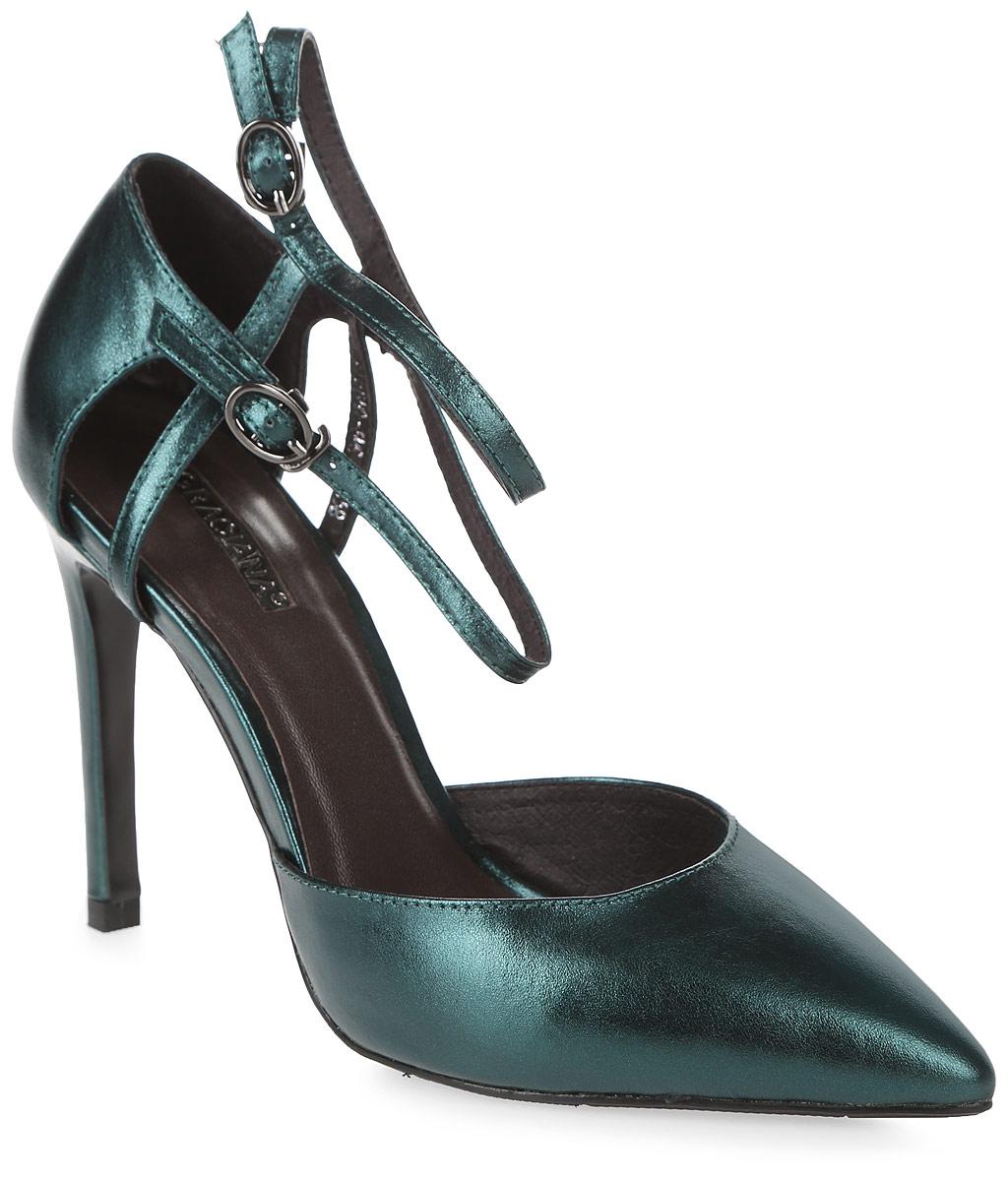Туфли женские Graciana, цвет: зеленый. B4103HD-6MS-3. Размер 36B4103HD-6MS-3Женские туфли от Graciana на шпильке выполнены из натуральной кожи. Модель фиксируется на ноге при помощи ремешков с пряжками. Подкладка, изготовленная из натуральной кожи, обладает хорошей влаговпитываемостью и естественной воздухопроницаемостью. Стелька из натуральной кожи гарантирует комфорт и удобство стопам. Подошва из резины обеспечивает хорошую амортизацию и сцепление с любой поверхностью.